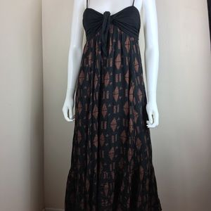 Free People high lo Maxi dress sexy open back