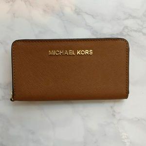 Michael Kors Camel Brown Leather Wallet