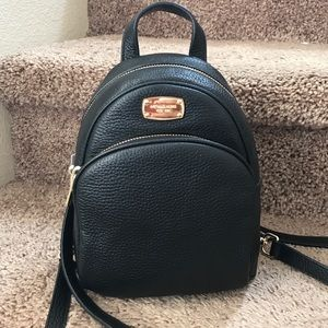 Authentic new leather MK mini backpack