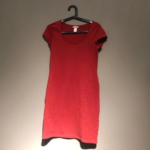 Burnt orange/red T-shirt dress - perfect for fall!
