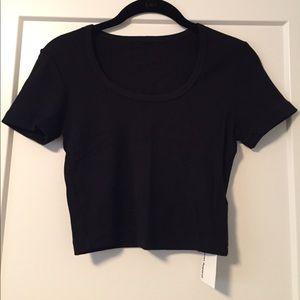 American Apparel Baby Rib Crop T-shirt