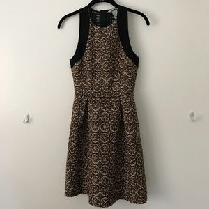 Fit and flare mid-length dress