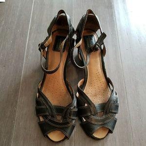 Clarks low heeled sandal