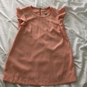 J. Crew salmon ruffled sleeve blouse