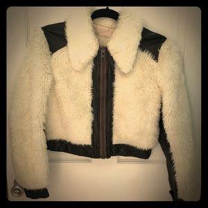 Vintage Faux Fur Bomber Jacket