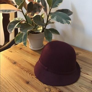 Anthropologie Wine Colored Hat