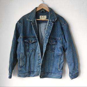 90s Vintage Oversized Denim Jean Jacket