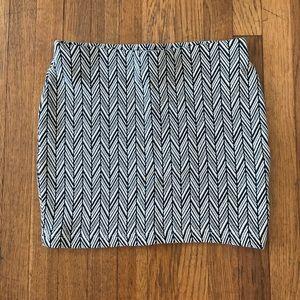 Zara Trafaluc Herringbone Miniskirt