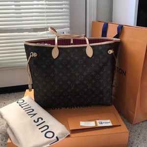 Brand New Louis Vuitton Neverfull Pivoine GM