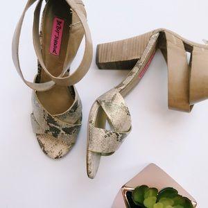 Betsey Johnson Sandal Bazar Heels