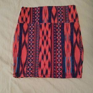 Charlotte Russe tribal skirt
