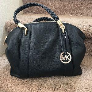 Authentic MK Naomi large satchel leather bag