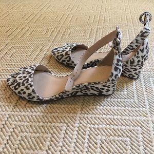 Jcrew animal print wedge sandal
