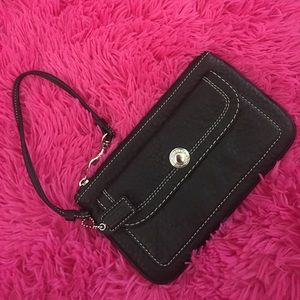 Authentic Coach black wristlet