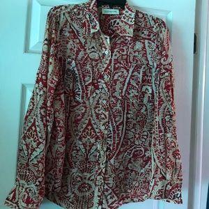 Jones New York print blouse