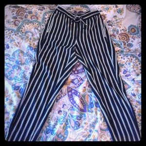 Dark Navy and White Striped Trousers👖🔵⚪️