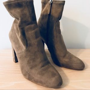 Steve Madden Edit Booties - Taupe - 6.5