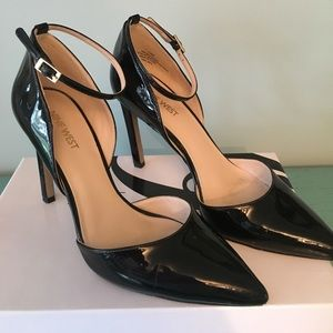 Sexy Black Patent stiletto Heels