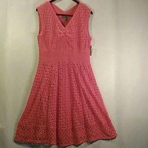 Rabbit Designs women peach lace dress size large