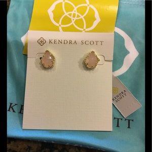 Kendra Scott Rose Quartz Tessa Earrings