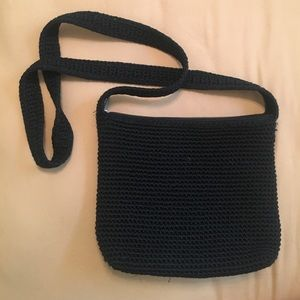 The Sak black crochet shoulder bag