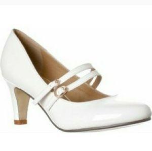 Brand new white Mary Jane pumps
