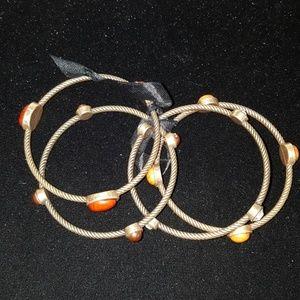 4 stackable bracelets