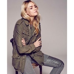 Free People Not Your Brothers Military Jacket