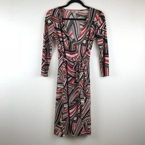 LOFT Striped Wrap Dress
