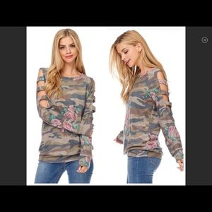 Camouflage Top. PRICE IS FIRM!