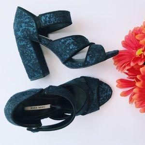 Zara Lace Heels