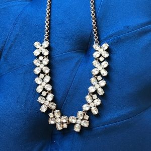 J.Crew Crystal Flower Necklace
