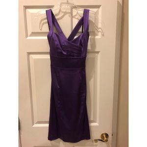 Purple satin stretch Calvin Klein dress size 2