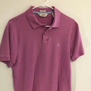 Original Penguin Classic Fit Purple Polo Shirt M