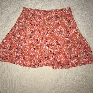 Orange Floral skirt