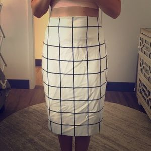 Black & cream pencil skirt