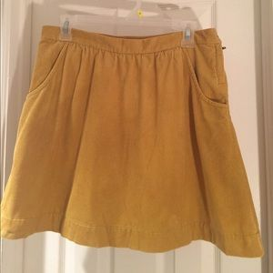 J Crew Mustard colored Corduroy Skirt