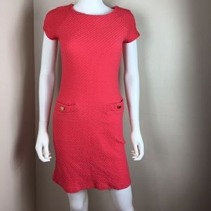 Lilly Pulitzer textured coral mini dress size S