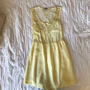 Open back yellow dress