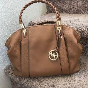 Authentic MK Naomi large leather satchel