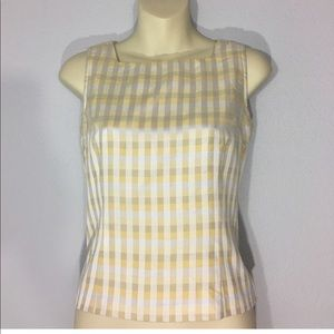 1990s square neck gingham top