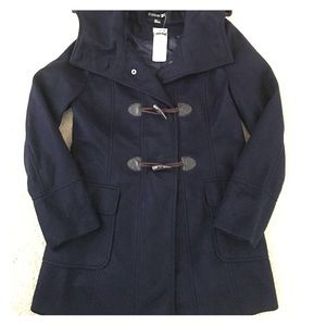 Forever 21 toggle coat navy new