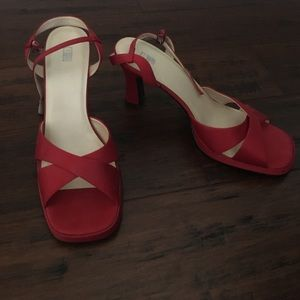 Women's BP red strappy heels size 11