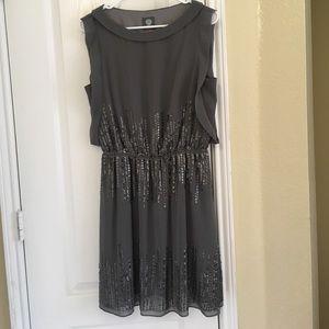 Vince Camuto embellished bodice dress