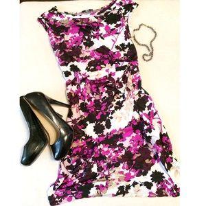 JBS sz M/L purple floral dress EUC
