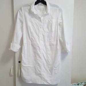 Madewell white shirt dress. XS