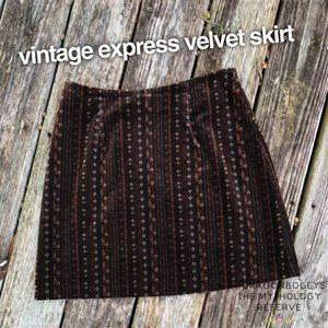 Vintage Express Velvet Skirt