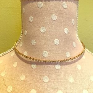 Gold choker with jewels, adjustable length