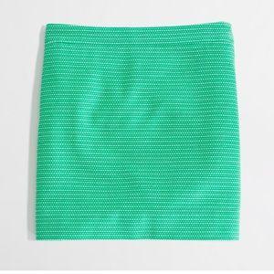 {j. crew} green & white dot-dot-dash mini skirt