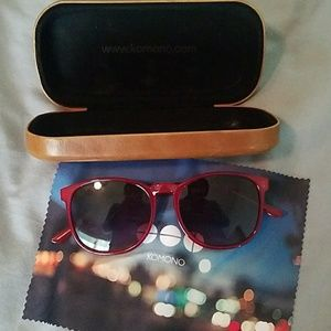 Red Komono polarized sunglasses
